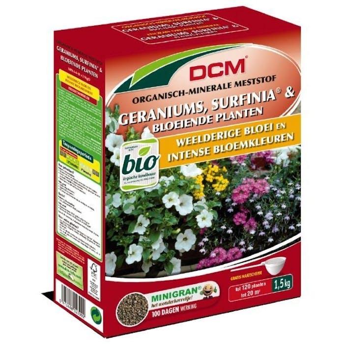 DCM Meststof Geraniums, Surfinia® & Bloeiende Planten 1,5 kg - BIO