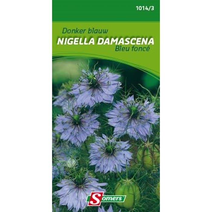 Nigella damascena donkerblauw