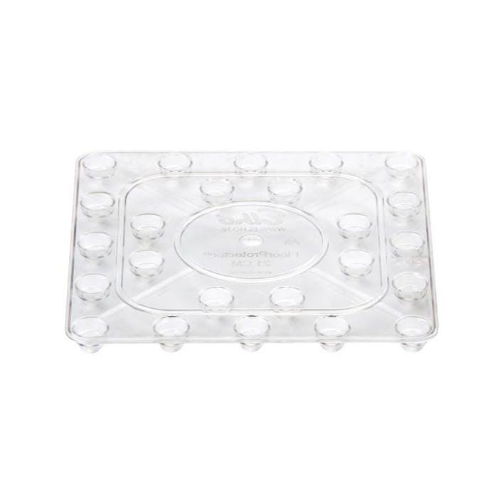 Floorprotector vierk 18 transparant