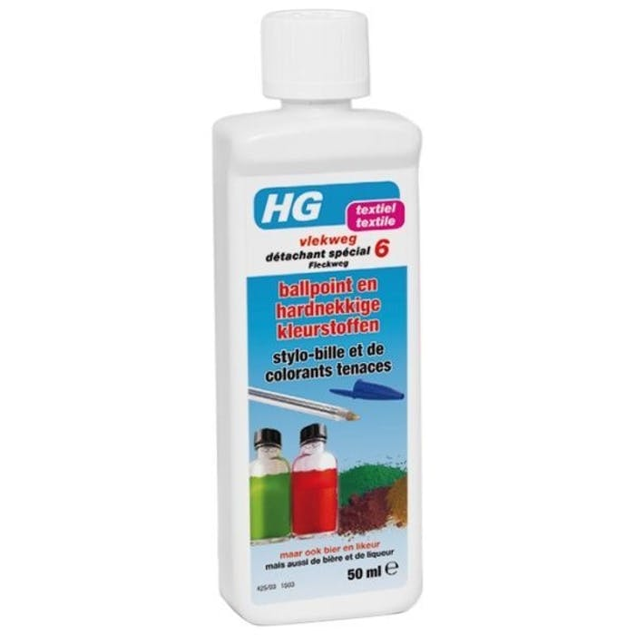 Hg vlekweg nr. 6 (ballpoint en hardnekkige kleurstoffen)