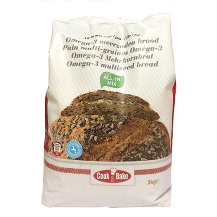 All-In mix voor omega 3-meerzaden brood 2kg Cook&Bake