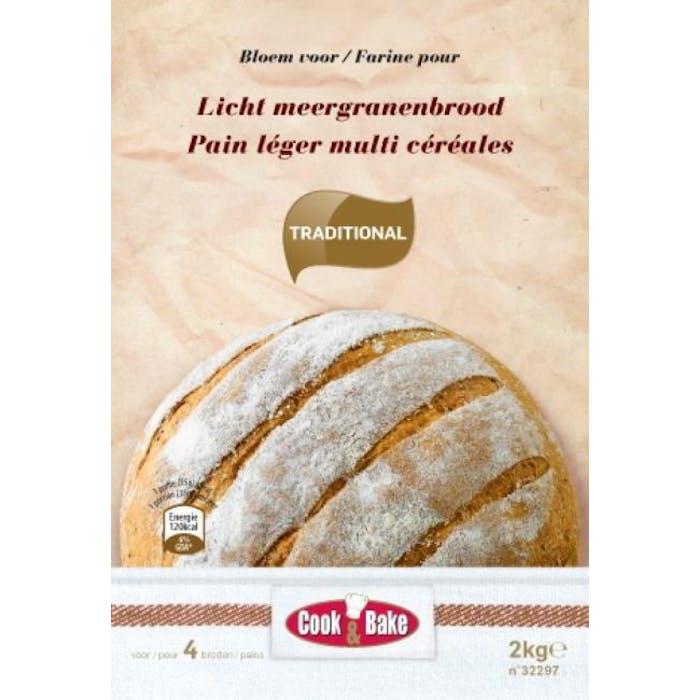 Artisanale bloem voor licht meergranenbrood 2kg Cook&Bake