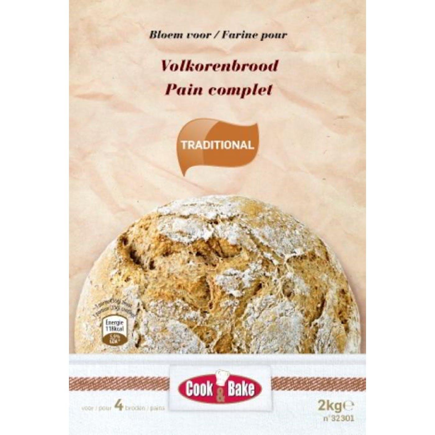 Artisanale bloem voor volkorenbrood 2kg Cook&Bake