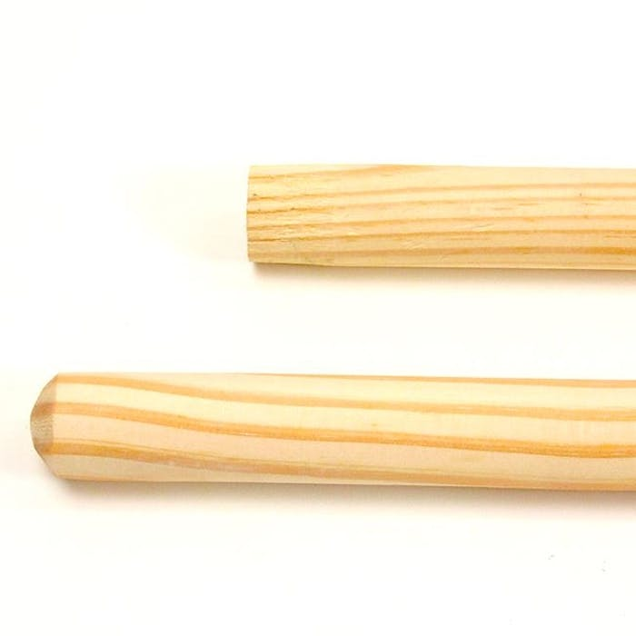 Borstelsteel hout 140 cm/23,5mm