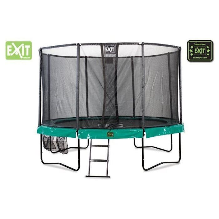 Trampoline supreme all-in-1 427 (14ft) donkergroen