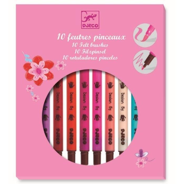 10 Dubbele viltstiften - Roze