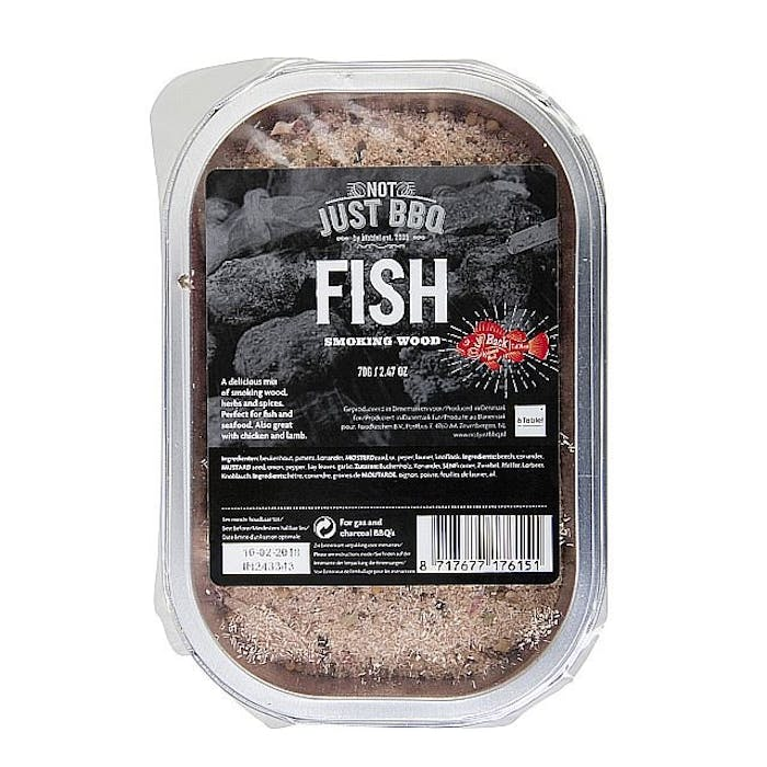 Smoking tray Fish single pack 70g
