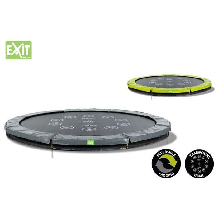 Trampoline twist ground 366 (12ft) groen/grijs