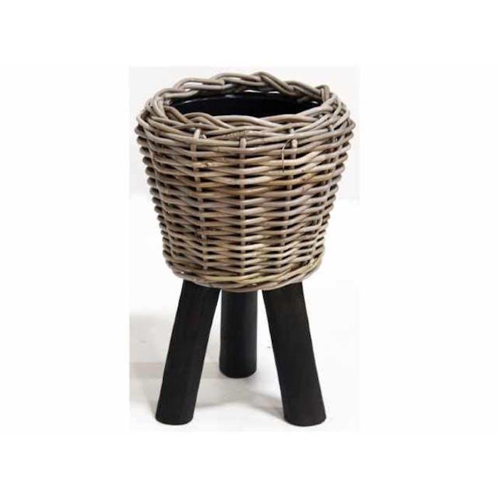 Drypot Wooden legs Black d27