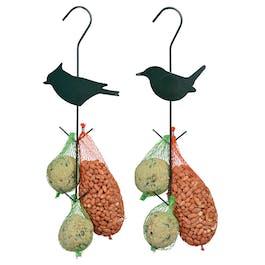 Vogelvoederhaak met vetbol/pinda's