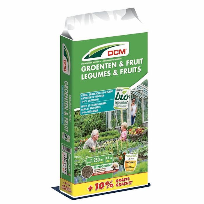 DCM Meststof Groenten & Fruit 18 + 1,8 kg - BIO