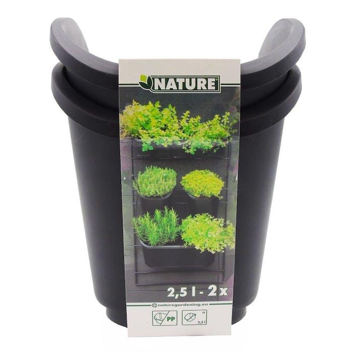 Set van 2 vierkante potten voor verticaal tuinierset
