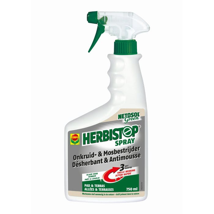 Compo Netosol Green Herbistop Spray Paden & Terrassen 7,5 M² 750 ml