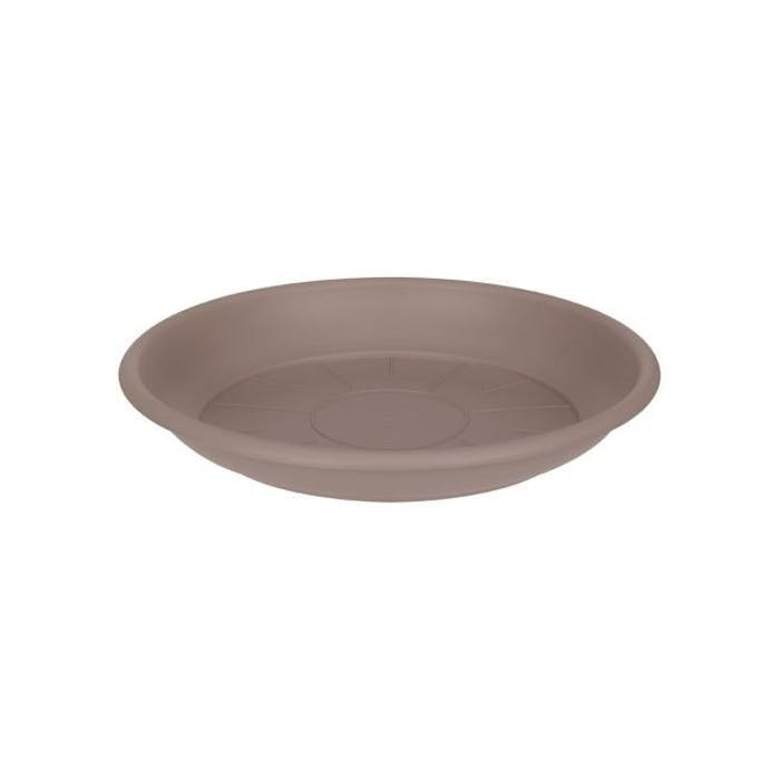 Schotel rond 17cm  taupe