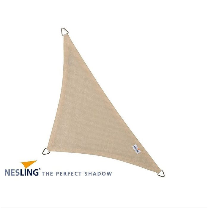 Schaduwdoek driehoek 90° 4m gebroken wit