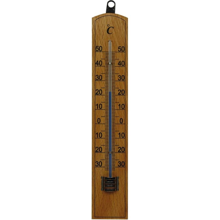 Buitenthermometer hout 20cm