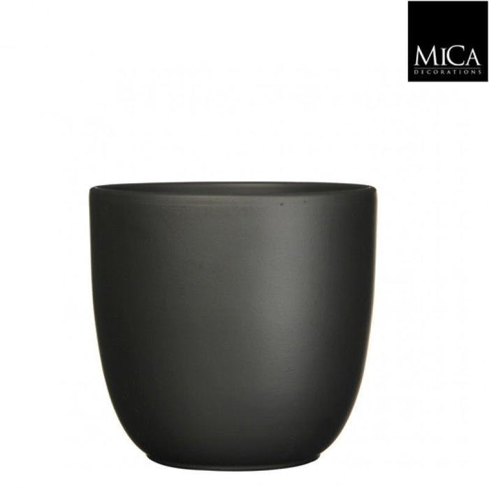 Tusca Overpot Zwart 17cm