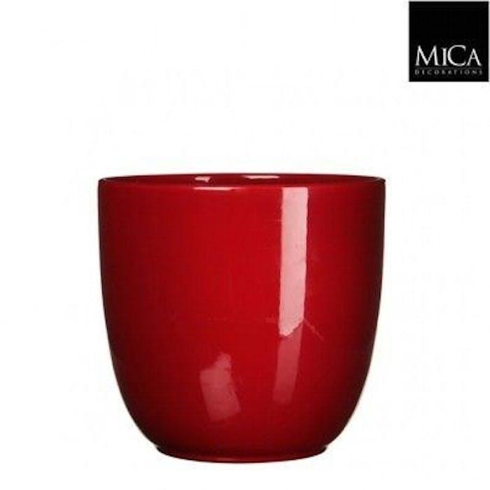 Tusca Overpot Rood (hoogglans) 10cm