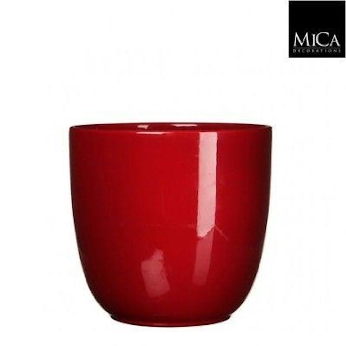 Tusca Overpot Rood (hoogglans) 17cm