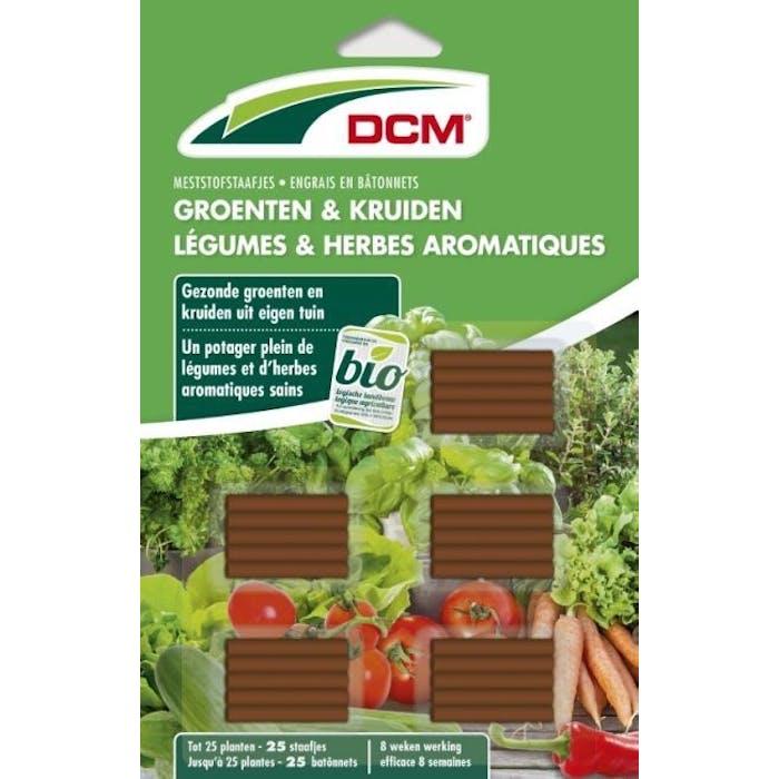 DCM Meststofstaafjes Groenten & Kruiden 25 staafjes - BIO