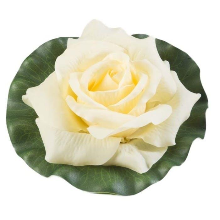 Rose on leaf yellow 17 cm