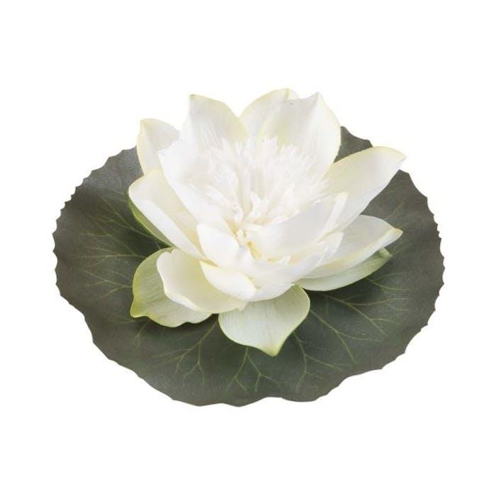 Lotus on leaf white 15 cm